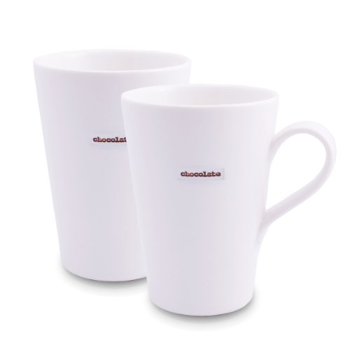 Make International Keith Brymer Jones Word Range Latte Mug, Chocolate, Set of 2 (Make International compare prices)