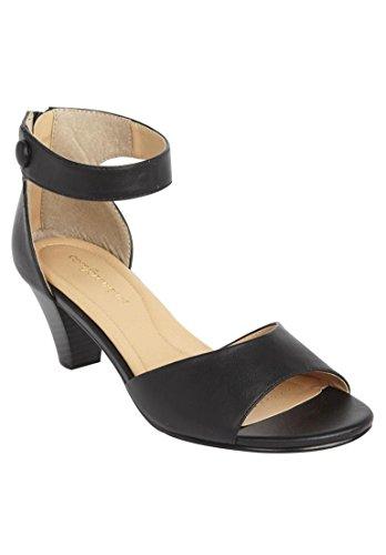 Comfortview Women's Wide Fallon Sandal Black,10