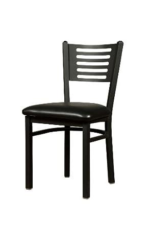 oak street manufacturing sl2166 blk metal frame 5 line dining chair