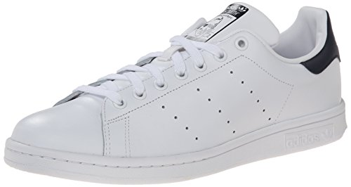Adidas Men's Originals Stan Smith Sneaker, White/White/Dark Blue, 8.5 M US