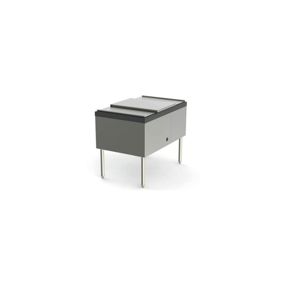 Perlick SS24IC10 24 in Pass Thru Ice Chest Service Station w/ 10 Circuit Cold Plate, 114 lb, Each