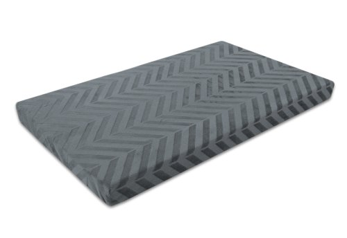 Innergy Chevron Print Memory Foam Crate Pet Mat,