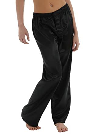 Black Charmeuse Pant Satin Pajamas for Women Sexy Lounge wear Sleepwear Bottoms Sizes: Small