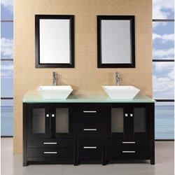 Design Element Dec072B-G Arlington 61-Inch Double Sink Vanity Set front-701776