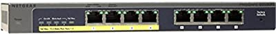 NETGEAR ProSAFE GS108PE 8-Port Gigabit Web Managed (Plus) PoE Switch 4 PoE Ports 45W (GS108PE-100NAS)