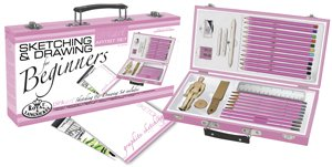 Royal Pink Art Beginner Sketching & Drawing Artist Set