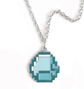 Minecraft Blue Diamond Necklace by A-factory