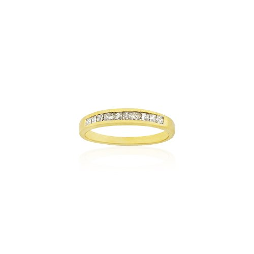 1/3 ct Ladies Diamond Wedding Ring in 14k Yellow Gold, Size 6.75