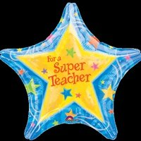 "Anagram 19""/48cm Mylar/foil Balloon for a Super Teacher"