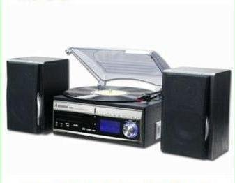 Steepletone Memphis 3 Speed Turntable/CD/DAB Radio/MP3 Player/Recorder Silver