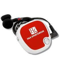 Walk 'N Roll Radio Pedometer (Red)