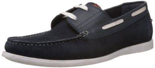 Famozi Famozi Men's Leather Loafers And Mocassins (Blue)