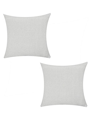 Jyotex Cotton 2 Piece Cushion COVER- 16'' x 16'', Grey