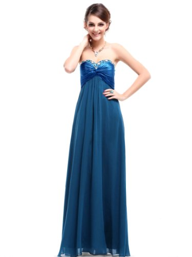 Ever Pretty Sweetheart Neckline Rhinestones Crystal Beads Prom Dress 09568