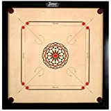 Surco Ellora Carrom Board with Coins and Striker, 4mm Full Size