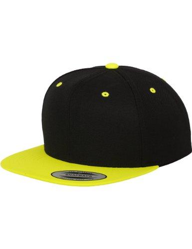 Flex fit -  Cappellino da baseball  - Uomo Multicolore - black/neonyellow Taglia Unica