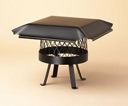 Single Flue Draft King - Black-Painted Stainless Steel - 16\