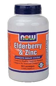 Now Foods Elderberry & Zinc, 90 lozenges ( Multi-Pack)