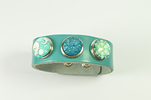noosa-style-turquoise-blue-bracelet-with-3-beautiful-snap-buttons-gift-bag-no-1