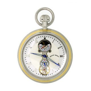 Mount Royal 8211; 24 Hour Moondial Chrome Plated 17 Jewel Mechanical P ...