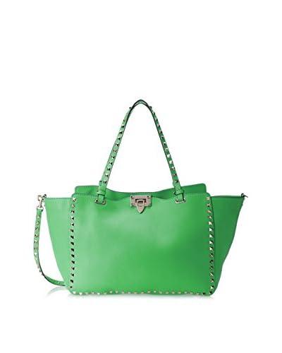 Valentino Women's Rockstud Medium Shopper, Green