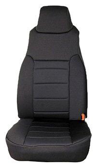 Rugged Ridge 13210.01 Black Custom Neoprene Front Seat Cover - Pair front-312317