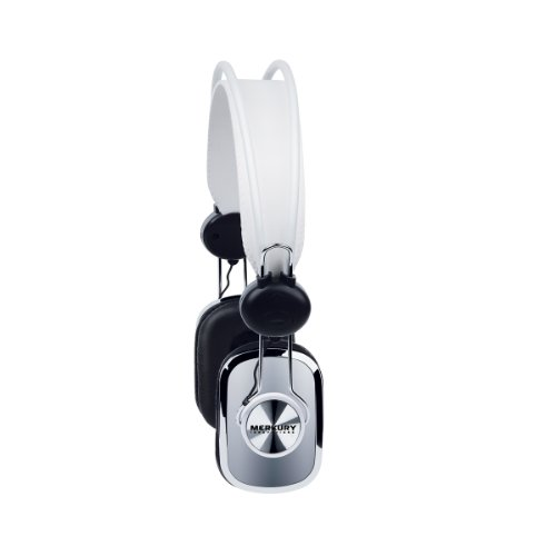 Merkury Innovations Retro Series Headphones - Silver (M-Hr160)