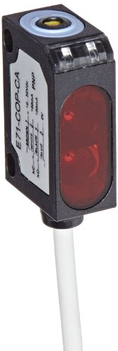 Eaton E71-Cop-Ca Photoelectric Sensor, Clear Object Detector, 6' Length 4-Wire Cable, 10-30 Vdc Input Voltage, Visible Red Led, 100 Ma Pnp Output, 80 Cm Sensing Range