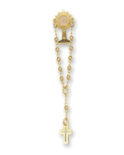 First Communion Chalice One Decade Rosary Pin Lapel. Made in Brazil.