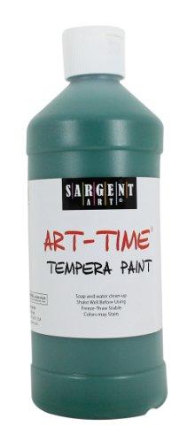 Sargent Art 22-6466 16-Ounce Art Time Tempera, Green