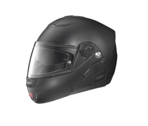 Nolan N-91 N-Com Solid Helmet , Distinct Name: Flat Black, Gender: Mens/Unisex, Helmet Category: Street, Helmet Type: Modular Helmets, Primary Color: Black, Size: 2XL N915270330108