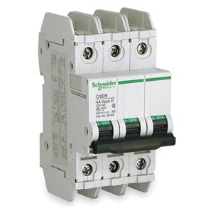 Circuit Breaker, Lug, C60N, 3Pole, 7A