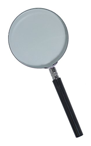 "3.5"" Round Metal 2x Magnifying Glass - 1"