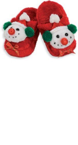 Child's Snowman Slippers, One Size