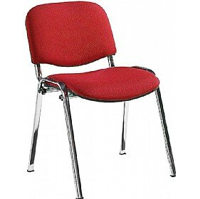 Swift Chrome Frame Conference Chairs (Pack of 4 Chairs) - Red
