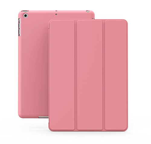KHOMO iPad Mini / Mini 2 Retina / Mini 3 Case - DUAL Pink Super Slim Cover with Rubberized back and Smart Feature (Built-in magnet for sleep / wake feature) For Apple iPad Mini Tablet (Ipad Mini Back Cover Pink compare prices)