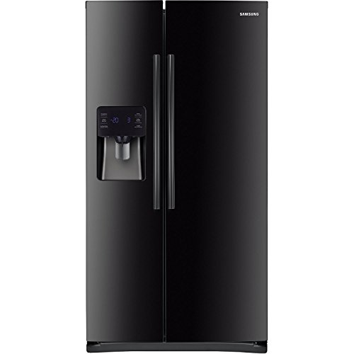 Samsung RS25H5111BC Energy Star 24.5 Cu. Ft. Side-by-Side Refrigerator/Freezer with External Water/Ice Dispenser and In-Door Ice Maker, Black (Samsung Freeze compare prices)