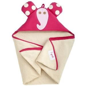 3 Sprouts Hooded Machine Washable Towel (Perfect Gift For Newborn Or Baby Shower) - Pink Elephant Baby / Child / Infant / Kid