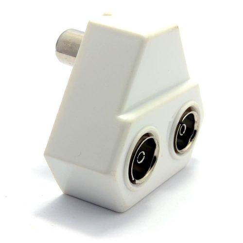 TV Digitale Erdgebundene RF Koaxialkabel Kabelverteiler Y-Adapter Connects 1 Gerät Zum 2 Tvs