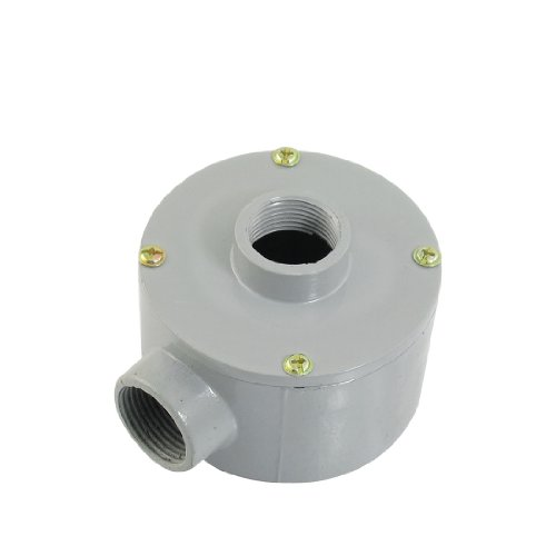 """G3/4"""" Thread Two Holes Conduit Wiring Round Metal Junction Box"""