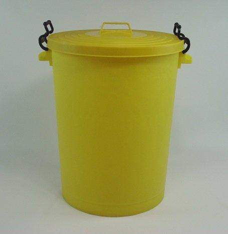 Dustbin Yellow 110litre bin /refuse bin / lockable lid (made in uk)