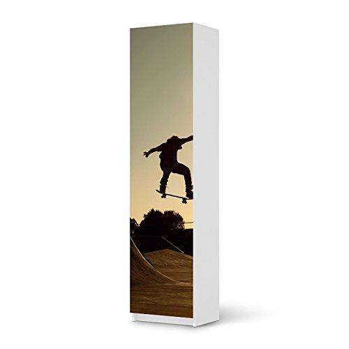 Möbel-Aufkleber IKEA Pax Schrank 201 cm Höhe – 1 Tür / Design Sticker Skater / selbstklebende Dekoration online bestellen