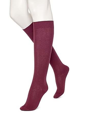 Hue Women's Flat Knit Knee-High Socks, Napa, Medium