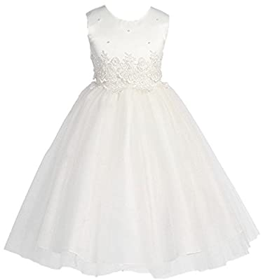 KID Collection Girls' Cinderella Tulle Flower Girl Dress
