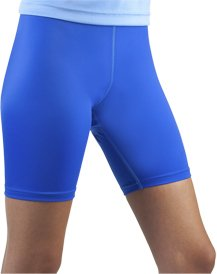 Women's Spandex Exercise Compression Workout Shorts Royal Blue Medium