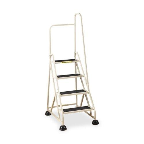 Cramer 4-Step Aluminum Right Handrail Step Ladder-4-Step Ladder, w/ Right Handrail, 24-5/8