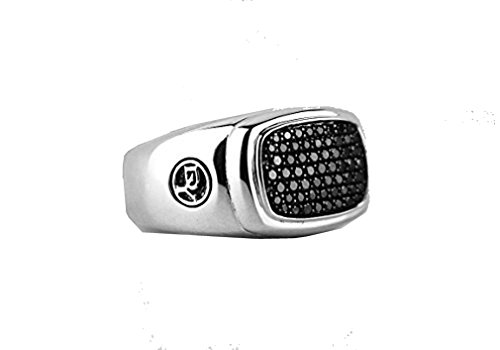 david-yurman-amplia-pave-negro-diamonds-anillo-de-signet-plata-nueva-sz-10-nueva-caja-520
