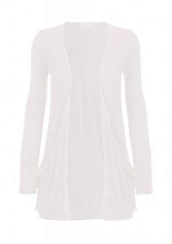 Hot-Hanger-Ladies-Plus-Size-Pocket-Long-Sleeve-Cardigan-16-26