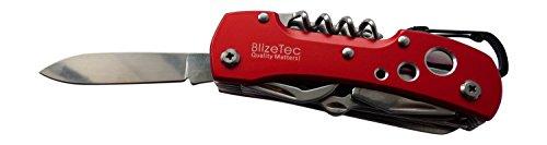 BlizeTec 14 Function Tactical Folding Pocket Knife - Red