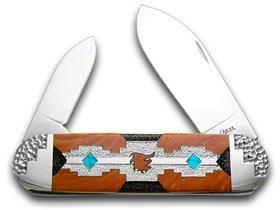 CASE XX Yellowhorse Navajo Rug Design Elephant Toe 1/3 Pocket Knife Knives